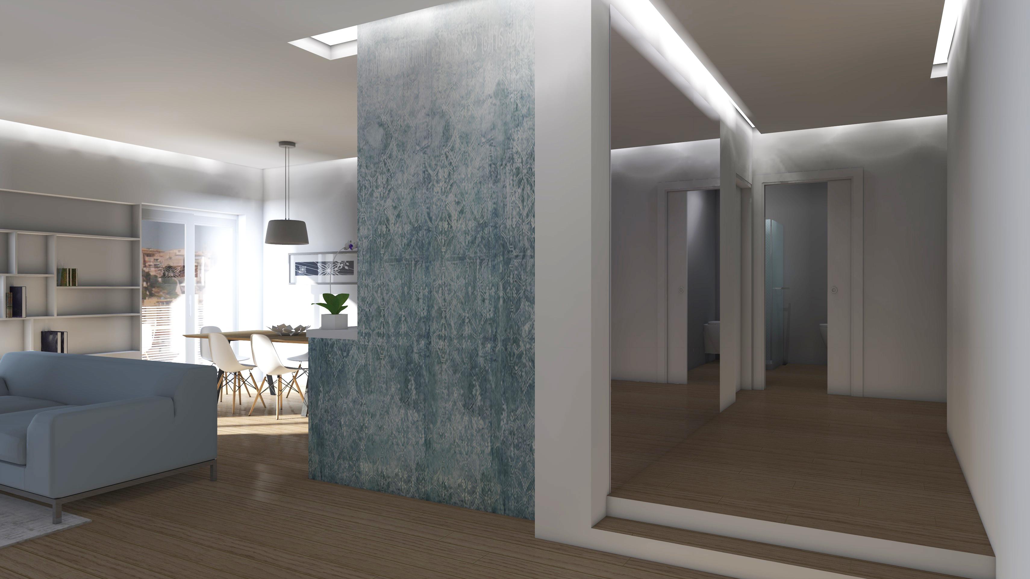 Illuminazione ingresso appartamento idee di design nella for Modello di casa all interno