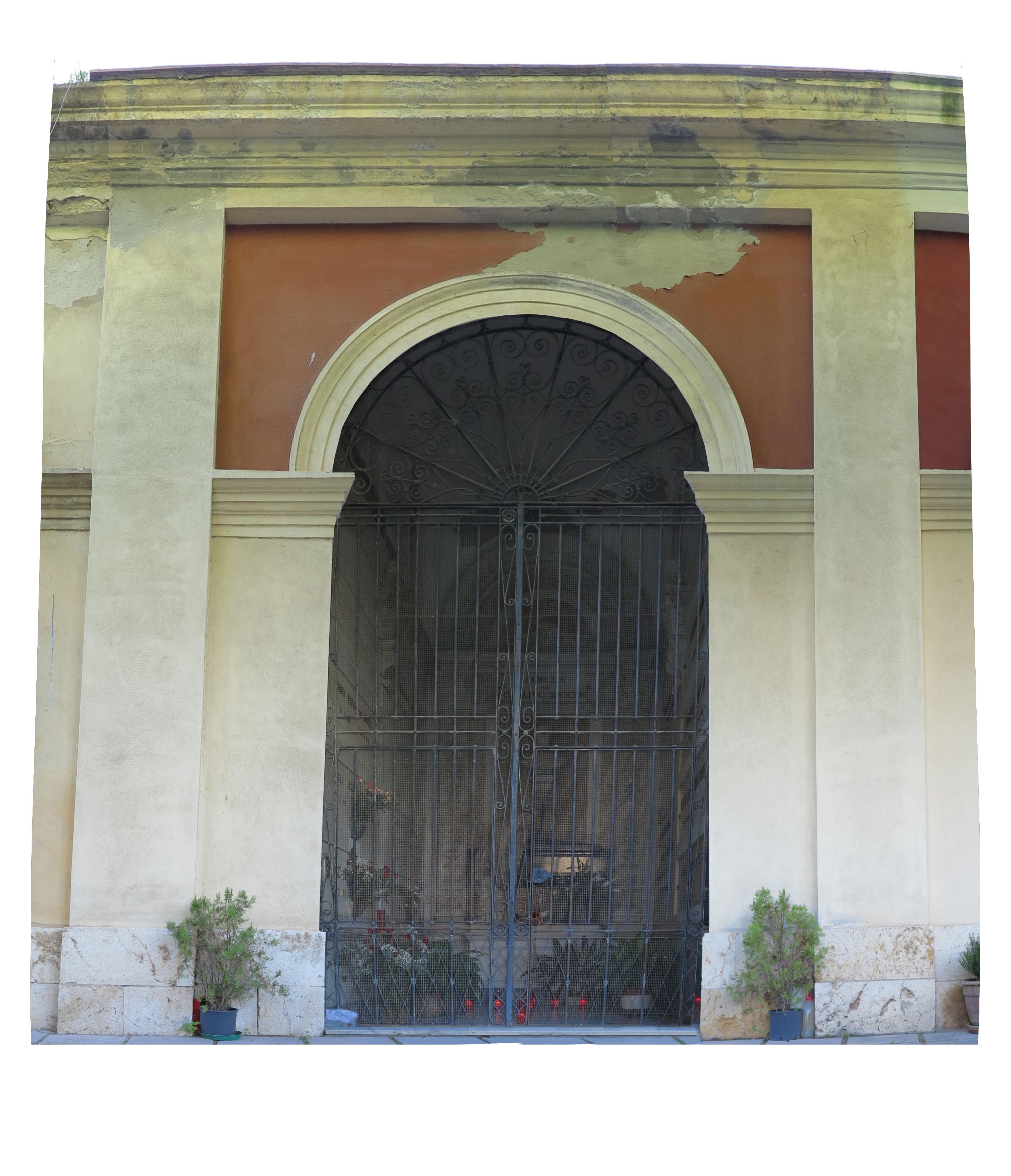 prospetto cappella raddrizzato